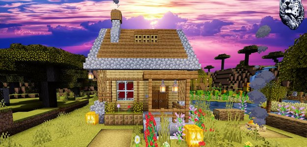 Красивый дом за 3 минуты в Minecraft