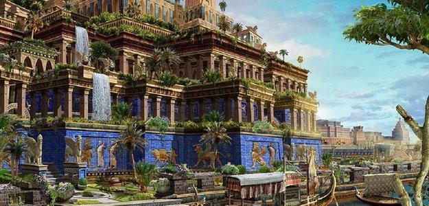 The Hanging Gardens of Babylon.