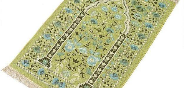 Beautiful Royal Blue Prayer Mat for Muslim Women