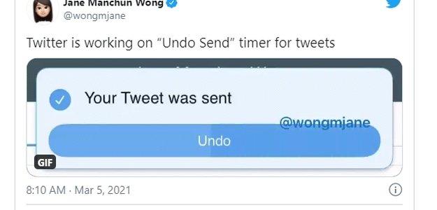 Twitter тестирует новую возможность отмены отправленных твитов